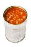 Baked beans in can Royalty Free Stock Photography