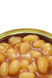 Baked beans close-up. Stock Photo