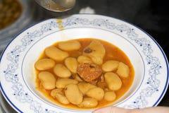Baked beans (fabada Asturiana) Royalty Free Stock Photos