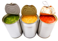 Baked Beans, Green Peas, Sweet Corn II Stock Images