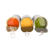 Baked Beans, Green Peas, Sweet Corn III Royalty Free Stock Photo