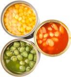 Baked Beans, Green Peas, Sweet Corn XI Stock Image