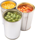 Baked Beans, Green Peas, Sweet Corn XII Stock Photography