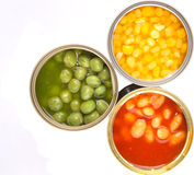Baked Beans, Green Peas, Sweet Corn XIII Royalty Free Stock Image