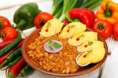 Baked beans with hominy Stock Images