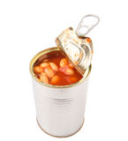 Baked Beans In Open Lid Tin Can V Stock Images
