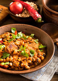 Baked beans with pork Stock Photo