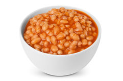 Baked beans portion Royalty Free Stock Image
