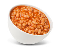 Baked beans ready meal Royalty Free Stock Photography