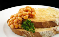 Baked Beans On Sourdough Royalty Free Stock Photography