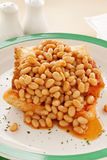 Baked Beans Stack Royalty Free Stock Photography