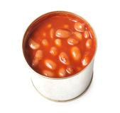 Baked beans in a tin Royalty Free Stock Photography