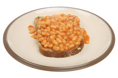 Baked Beans on Toast Stock Image