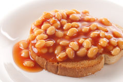 Baked Beans Toast Royalty Free Stock Image