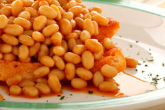 Baked Beans On Toast Stock Photos