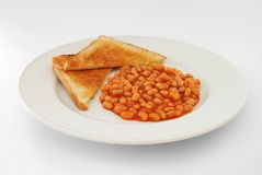 Baked beans on toast Royalty Free Stock Photography