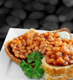 Baked Beans On Toast Stock Images
