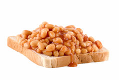 Baked Beans Toast Stock Photos