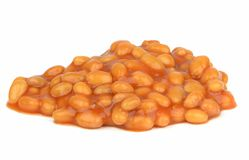 Baked beans in tomato sauce Stock Photos