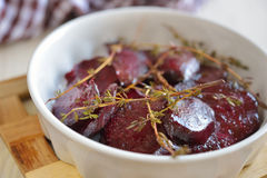 Baked beetroot with thyme Royalty Free Stock Images
