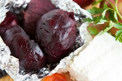 Baked Beets- Ingredients For A Salad Royalty Free Stock Photos