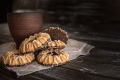 Baked, Black, Brown stock images