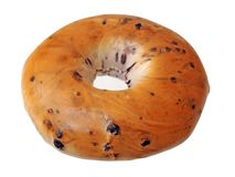 Baked blueberry bagels Stock Photography