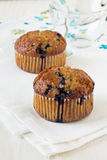 Baked blueberry muffins Stock Photo