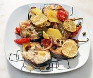 Baked bonito fish Stock Photography