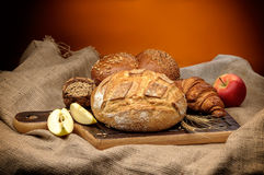 Baked bread assortment Royalty Free Stock Photography