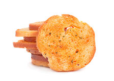 Baked bread circles Stock Images
