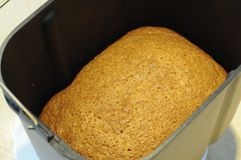 Baked bread stock image