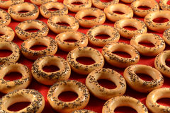 Baked bread rings Royalty Free Stock Photography