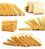 Baked bread slices isolated food Royalty Free Stock Images