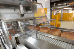 Baked Breads on the production Stock Photo