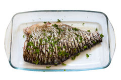 Baked bream Stock Image