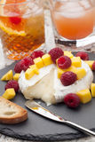 Baked Brie Cheese and Fruits Royalty Free Stock Image
