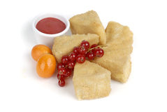 Baked Brie Cheese Royalty Free Stock Images