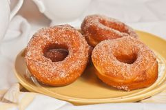Baked brioche donuts Royalty Free Stock Images