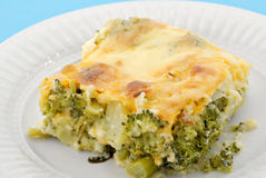 Baked Broccoli Pie Stock Photos