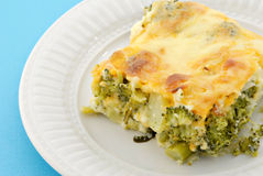 Baked Broccoli Pie Royalty Free Stock Photos