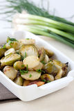 Baked brussels sprouts and parsnips Stock Image