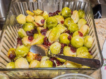 Baked brussels sprouts Stock Photography