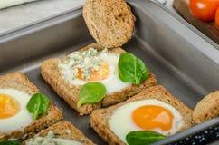 Baked Bull's-Eye Eggs Royalty Free Stock Photo