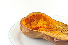 Baked Butternut Squash Royalty Free Stock Photography