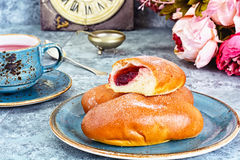 Baked Cakes, Pies with Jam Royalty Free Stock Photo