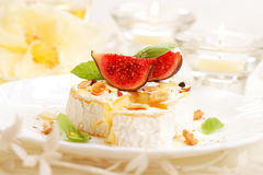 Baked camembert Royalty Free Stock Images