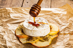 Baked camembert Stock Image