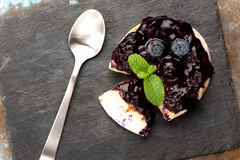 Baked Camembert with blueberry Royalty Free Stock Image