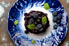 Baked Camembert with blueberry Stock Photos